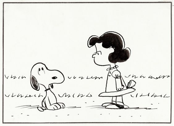 Comic Book Panels Peanuts Snoopy Lucy