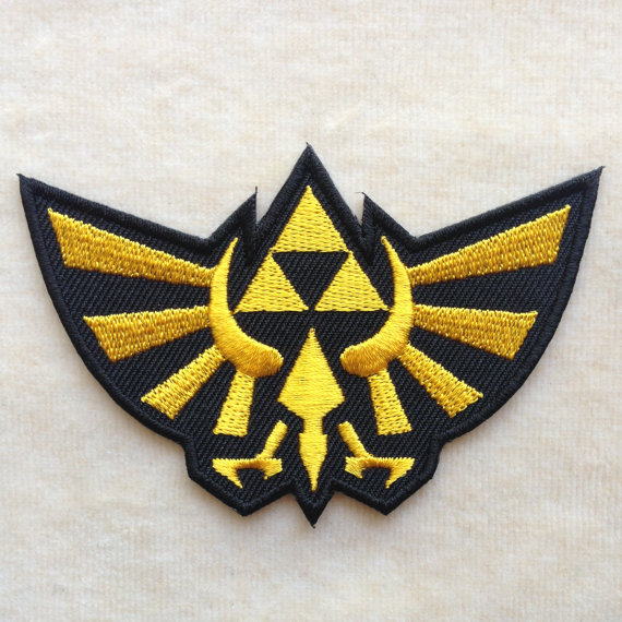 legend of zelda embroidered patch retro video game