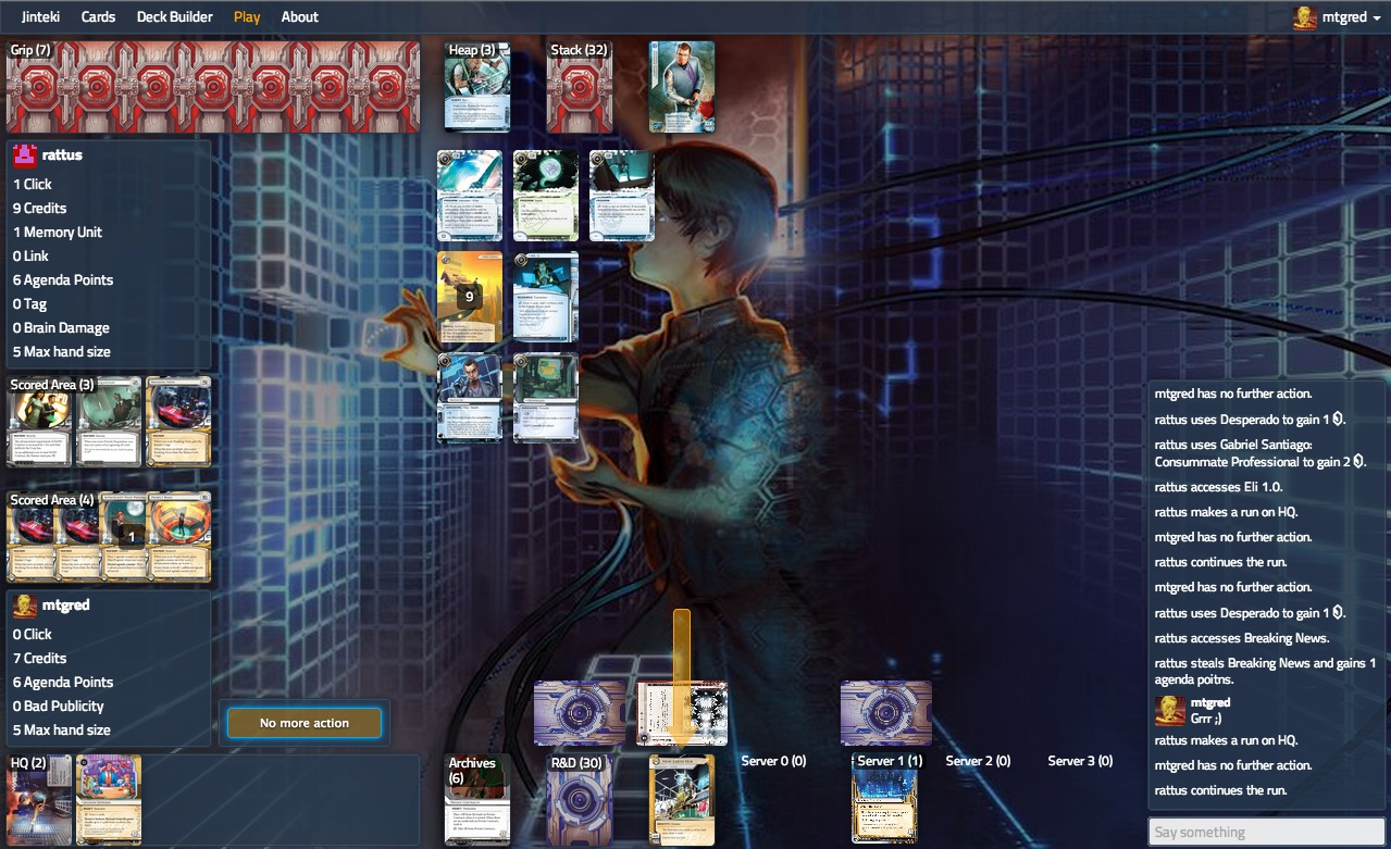 play online Android: Netrunner