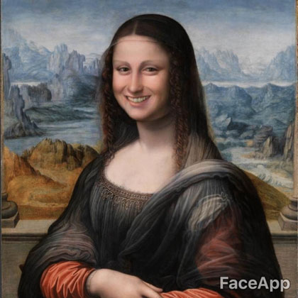 Mona Lisa Faceapp